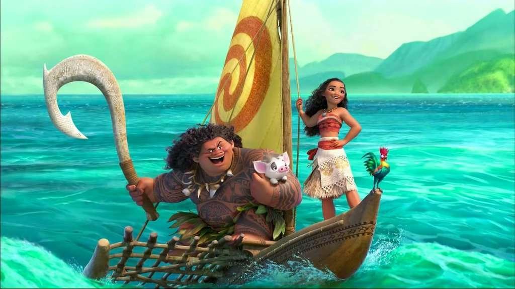 《海洋奇缘》,影片中有个叫莫阿娜的小女,帮助一只小乌龟回到大海,去